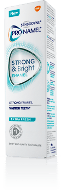 A box of Pronamel® Strong & Bright Enamel Extra Fresh Toothpaste