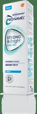 A box of Pronamel® Strong & Bright Enamel Mint Toothpaste