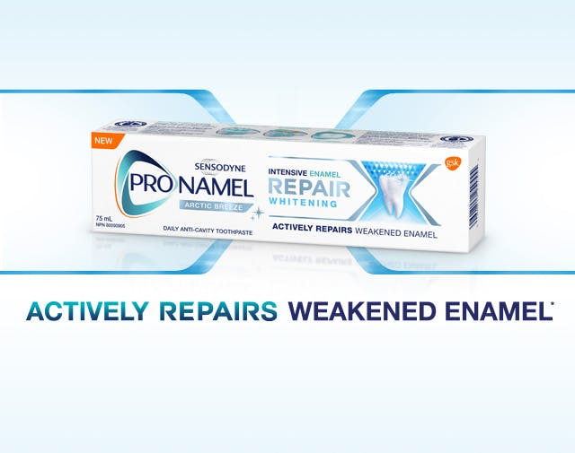 Pronamel Intensive Enamel Repair Whitening Toothpaste box