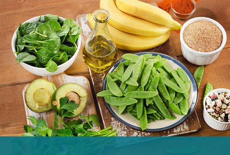 Green Veggies, Fruits and Nuts