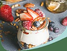 Jar of Yogurt With Fruit