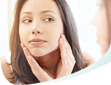 Women Looking in Mirror Skin Icon