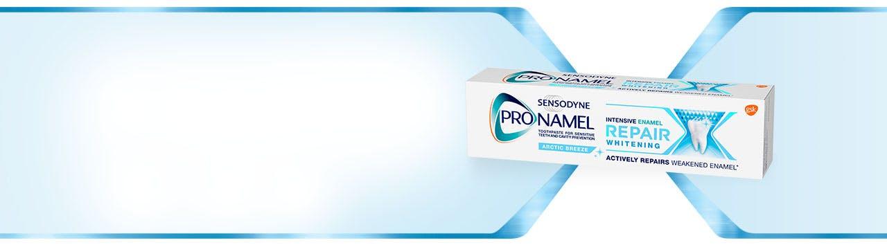 Box of Sensodyne Pronamel to actively repair weakened enamel
