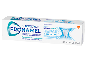 Box of Sensodyne Pronamel Intensive Enamel Repair Whitening