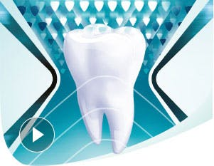 Healthy tooth with strong enamel