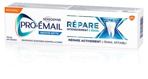 Boîte de dentifrice Répare intensivement l'émail Menthe nette