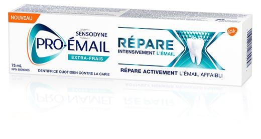 Boîte de dentifrice Pro-Émail Répare intensivement l'émail Extra-frais