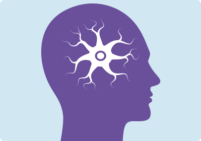 Illustration of receptors in the brain releasing chemicals