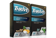 Package of THRIVE Gum in Fruit Explosion flavour