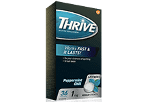 Package of THRIVE Lozenges in Peppermint Chill flavour