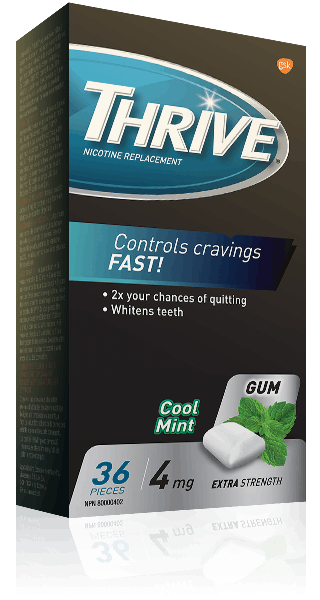 THRIVE Extra Strength Cool Mint 4 mg gum