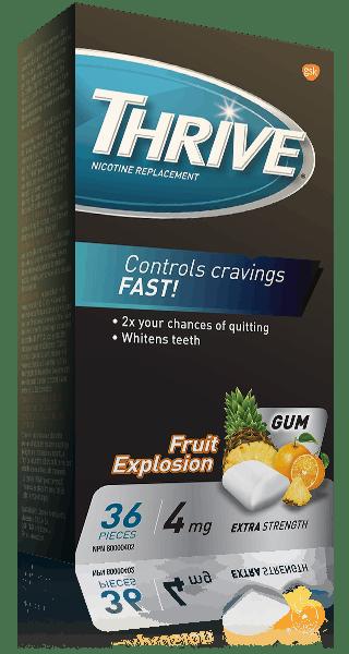 THRIVE Extra Strength Fruit Explosion 4 mg gum