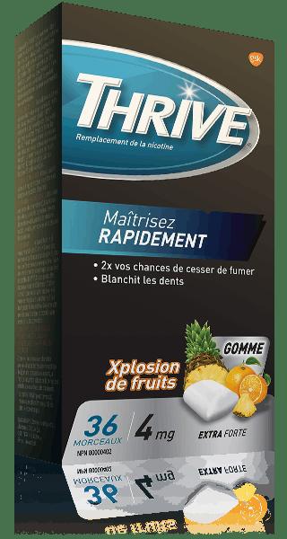 Gommes THRIVE Xplosion de fruits extra-fortes à 4 mg