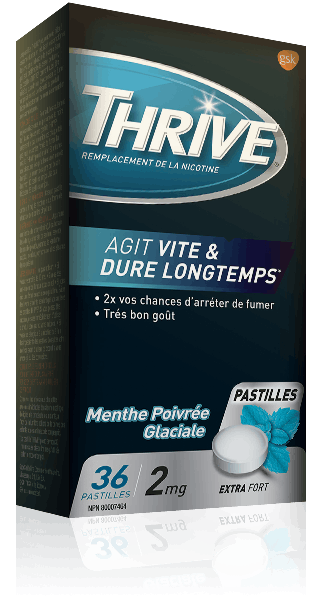 Pastilles THRIVE Menthe poivrée glaciale extra-fortes à 2 mg