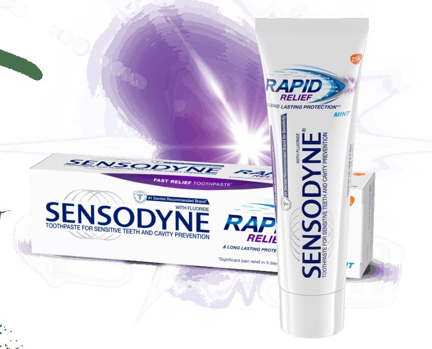 Sensodyne Rapid Relief toothpastes for sensitive teeth