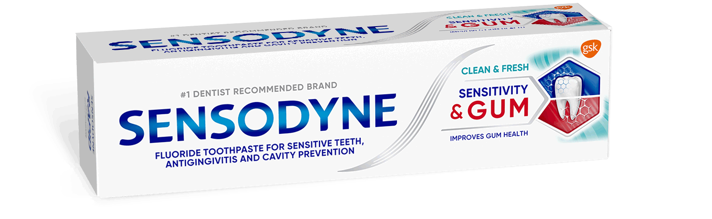 Sensodyne Sensitivity & Gum Mint toothpaste in packaging