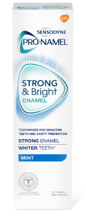 Sensodyne Pronamel Strong and Bright toothpaste in Mint