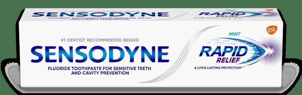 Sensodyne Rapid Relief toothpaste in Mint