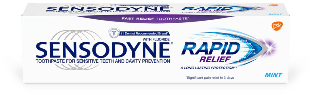 Sensodyne Rapid Relief toothpaste in Mint