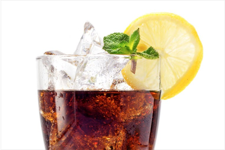 Acid erosion caused by soft drinks