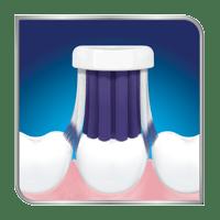 Toothbrush brushing teeth