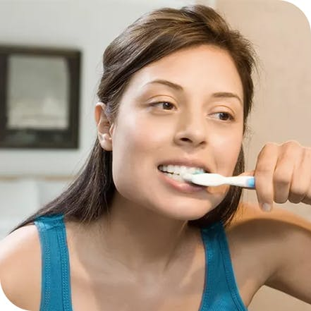 Brushing teeth to maintain healthy teeth