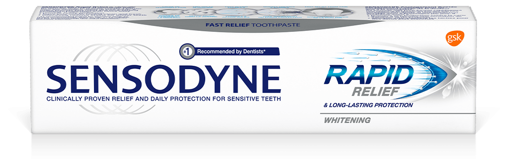 Sensodyne Rapid Relief Whitening Toothpaste Pack