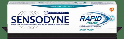 Sensodyne Rapid Relief toothpaste in Extra Fresh
