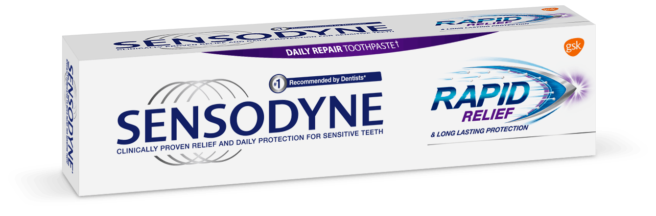 Sensodyne Rapid Relief toothpaste header