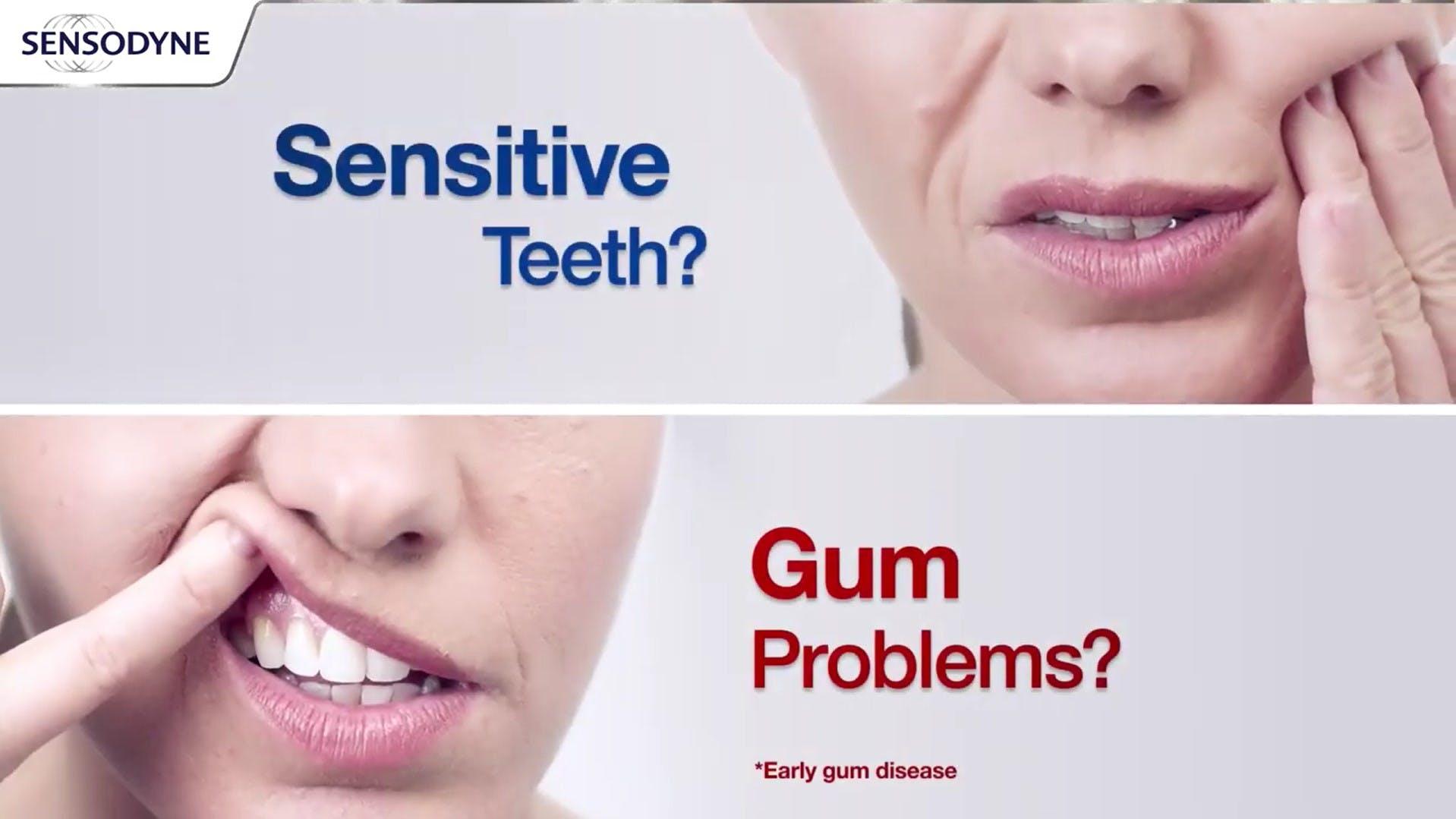 Sensitive teeth and gum problems