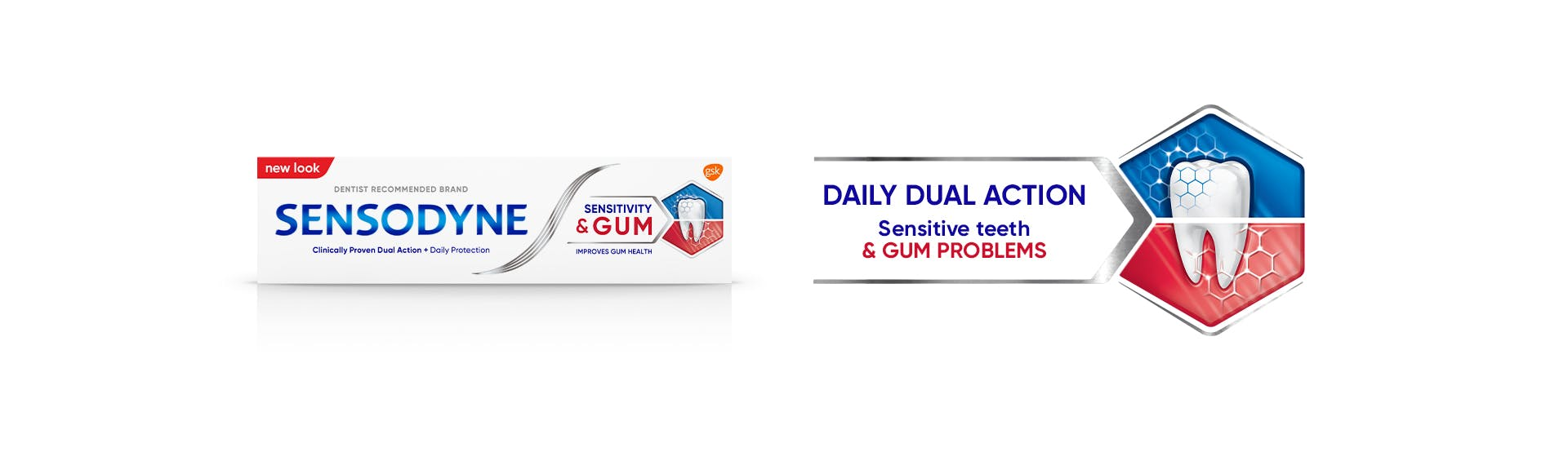 Dual relief from sensitive teeth banner
