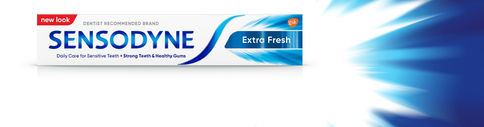 Sensitivity relief with long lasting fresh breath feeling imagery