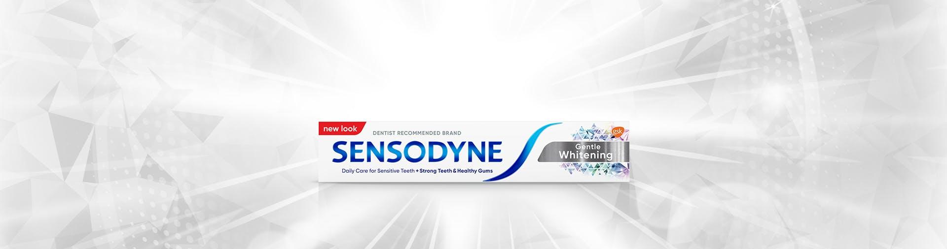 Sensodyne Extra Whitening campaign banner