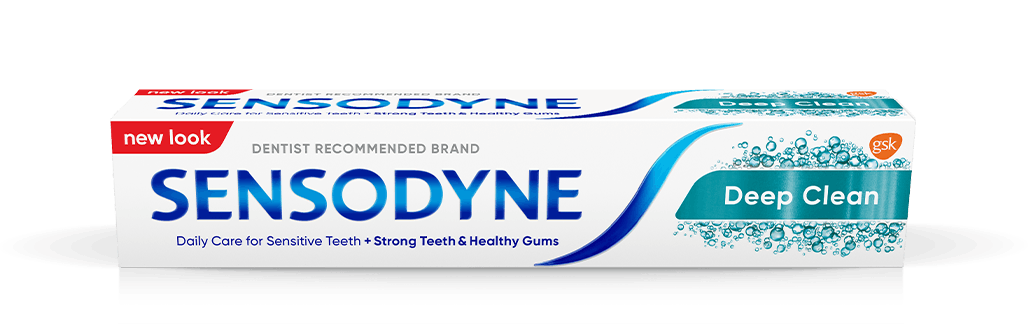Sensodyne toothpaste in Deep Clean