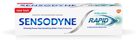 Sensodyne Rapid Relief toothpaste in Extra Fresh