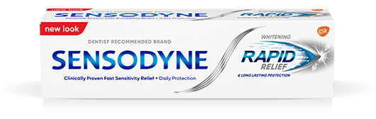Sensodyne Rapid Relief Whitening Toothpaste Pack
