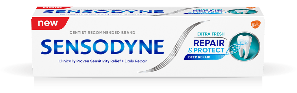 Sensodyne Repair and Protect toothpaste in Extra Fresh