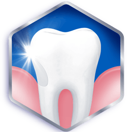 White shiny teeth
