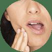 mujer con hipersensibilidad dental - gsk