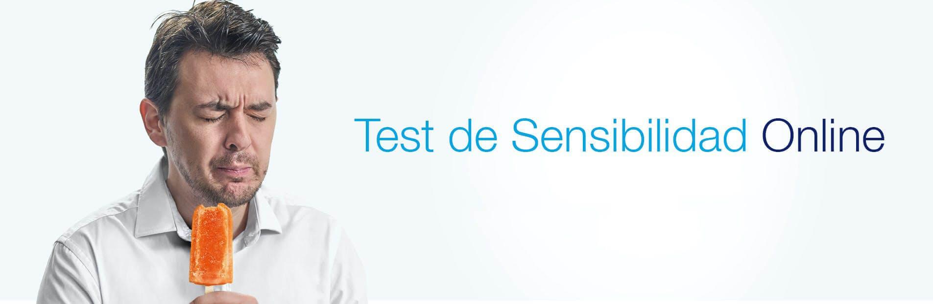Hombre sufriendo de sensibilidad dental por comer helado - Test de sensibilidad dental - Sensibilidad al frío
