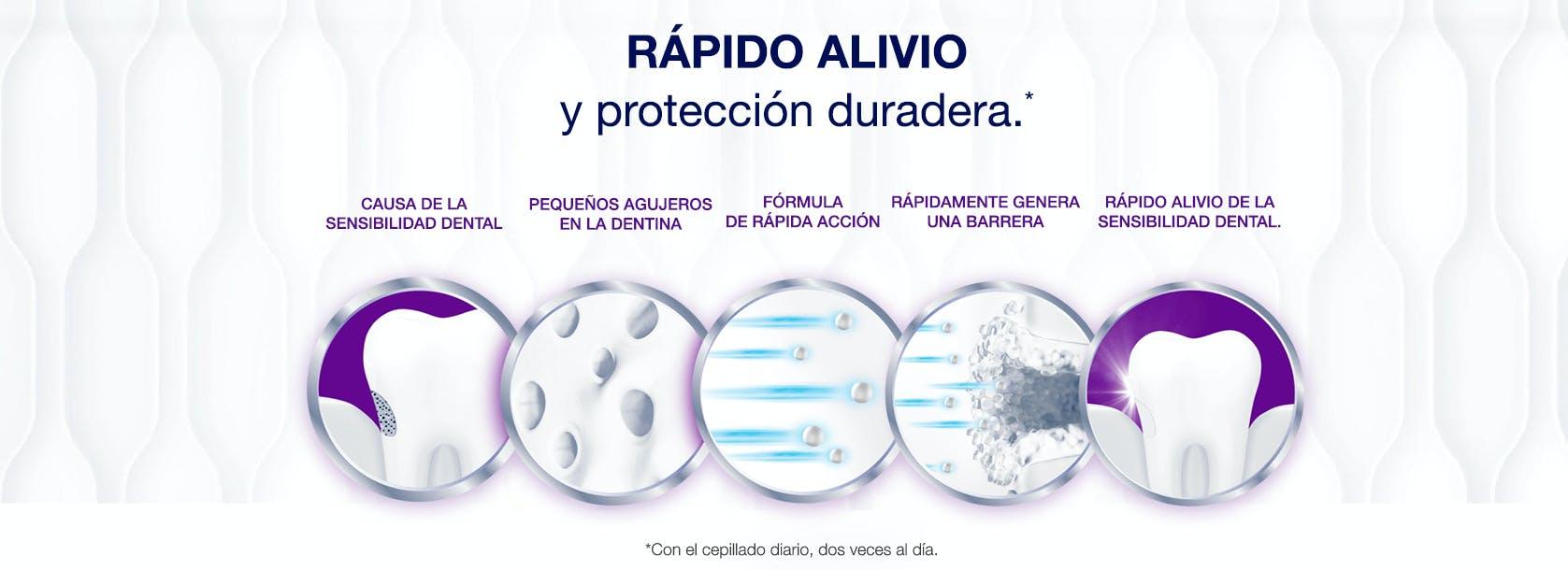 sensodyne rápido alivio y protección duradera