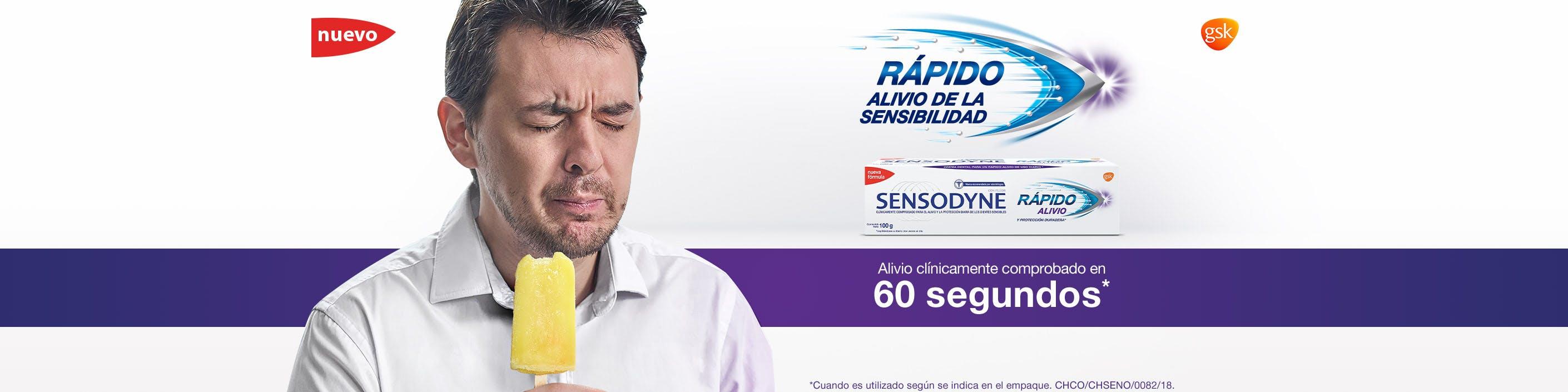 Sensodyne - Rápido Alivio de la sensibilidad - Alivio clinicamente comprobado en 60 segundos