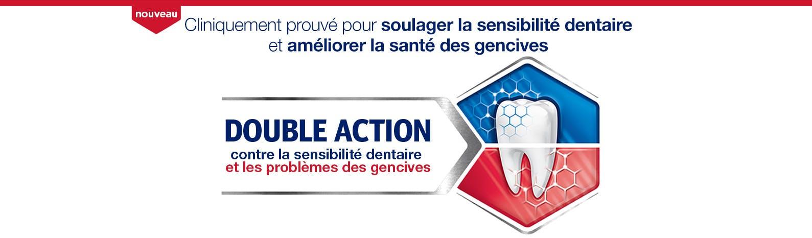 Dentifrice Sensodyne pour soulager les dents sensibles et les gencives douloureuses