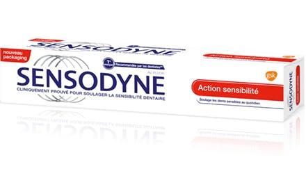 Le dentifrice Sensodyne Action Sensibilité soulage la sensibilité dentaire