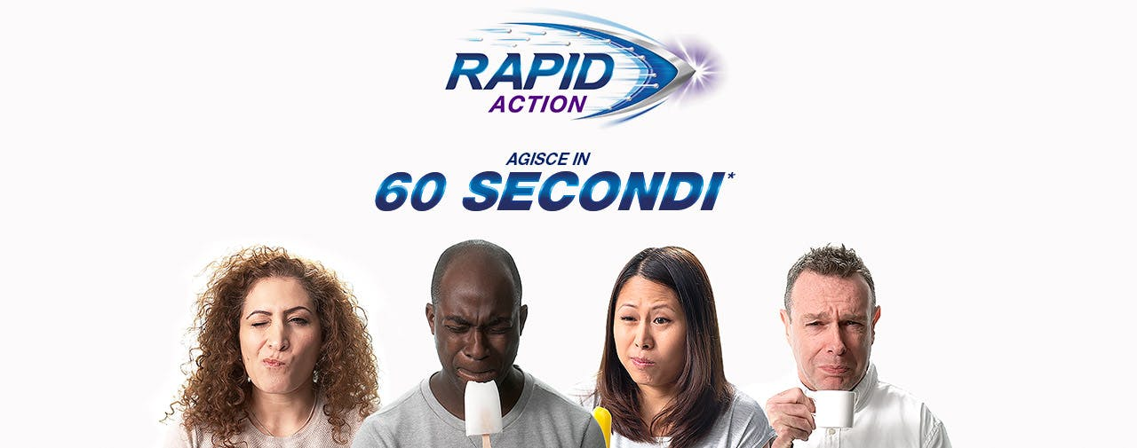 Sensodyne Rapid Action agisce in 60 secondi