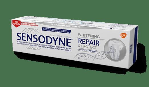 Sensodyne Repair & Protect Whitening 3D liggend in een hoek