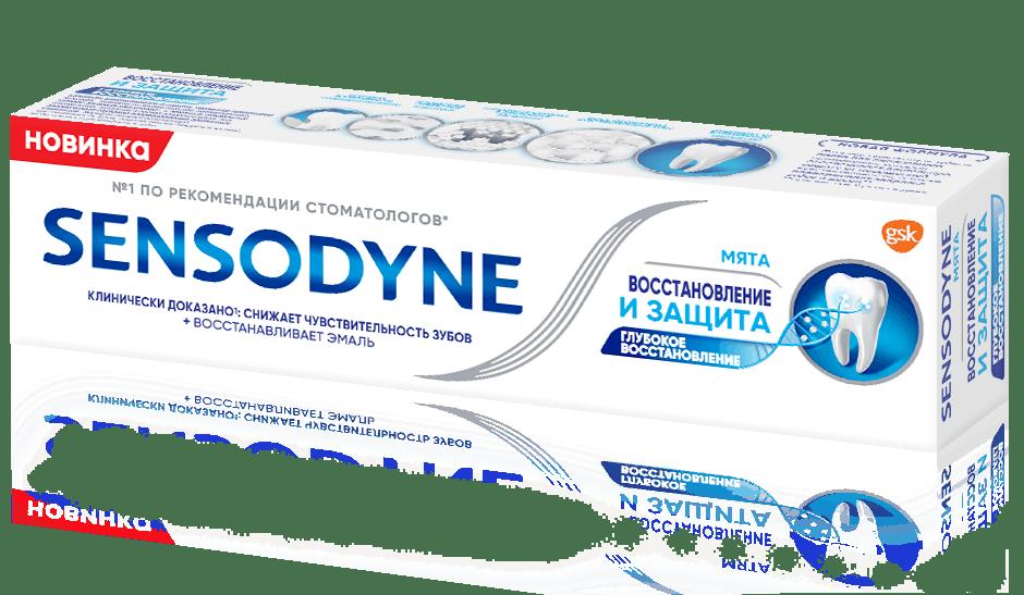 Зубная паста Sensodyne | Восстановление и Защита