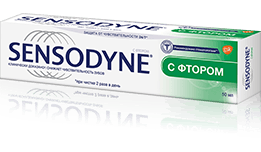 Зубная паста Sensodyne   С фтором