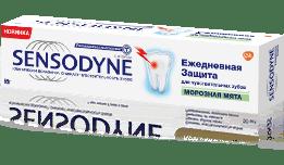 Зубная паста Sensodyne   Ежедневная Защита Морозная Мята