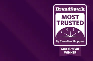 BrandSpark Icon | Most Trusted by Canadian Shoppers 3 Year Winner